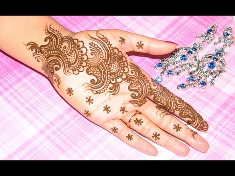 Arabic Bridal Henna Design : Best Mehndi Designs 2012 2013 : Learn Henna Step By Step video