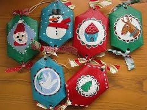 Manualidades para ni os con material reciclable 2 youtube - Manualidades infantiles para navidad ...