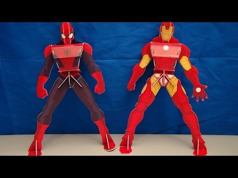 ULTIMATE SPIDER-MAN AND AVENGERS IRON MAN FOAM BUILD A HERO PLAYSET VIDEO