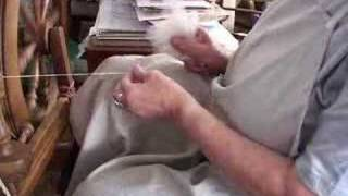 Wool spinning by hand