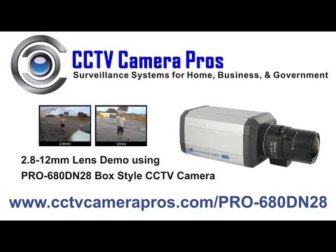 2.8-12mm Varifocal Lens Box CCTV Security Camera