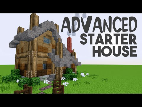 Minecraft ADVANCED Starter House tutorial! but its easy ;)