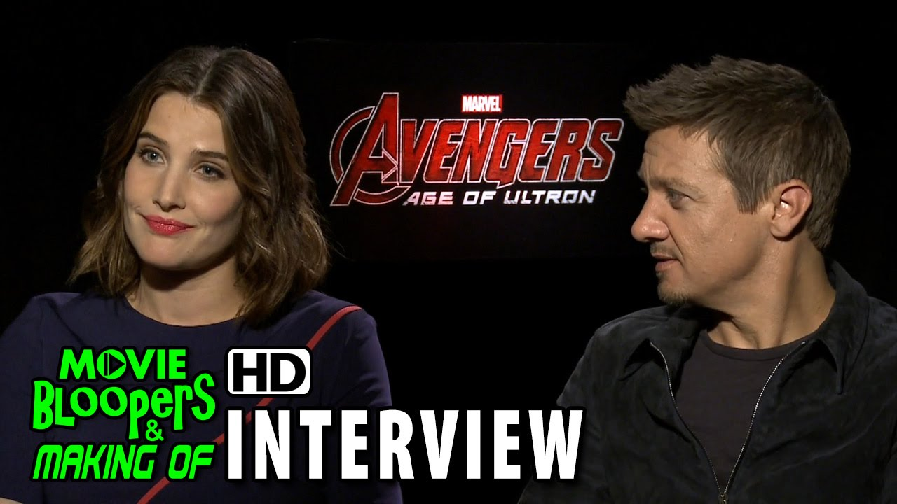 Avengers: Age of Ultron (2015) Official Movie Interview - Jeremy Renner & Cobie Smulders