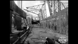 British Movietone News: RMS Queen Elizabeth: Original footage (LAUNCH, CAREER)