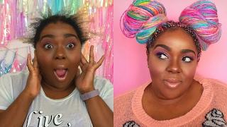 Watch Me Transform | Rainbow Box Braids Installation