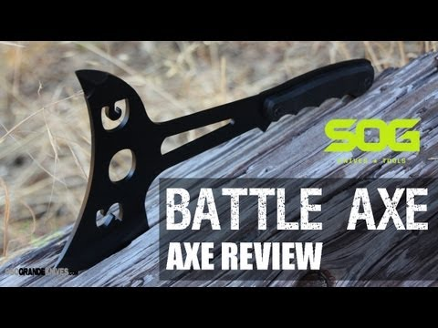 SOG Fusion Battle Axe Throwing Axe Review F02T   OsoGrandeKnives