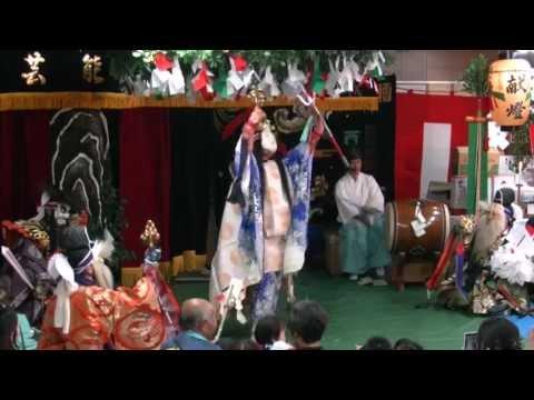 石見神楽「岩戸」 - フトダマと忌部氏、日本の祭祀に欠かせない大麻を管掌していたのキャプチャー