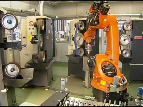 Grinding and polishing of implants with a KUKA robot