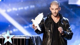 මේ කෙල්ල ආවේ කොහේ සිටද  MAGIC Darcy Oake's jaw-dropping dove illusions | Britain's Got Talent 2014
