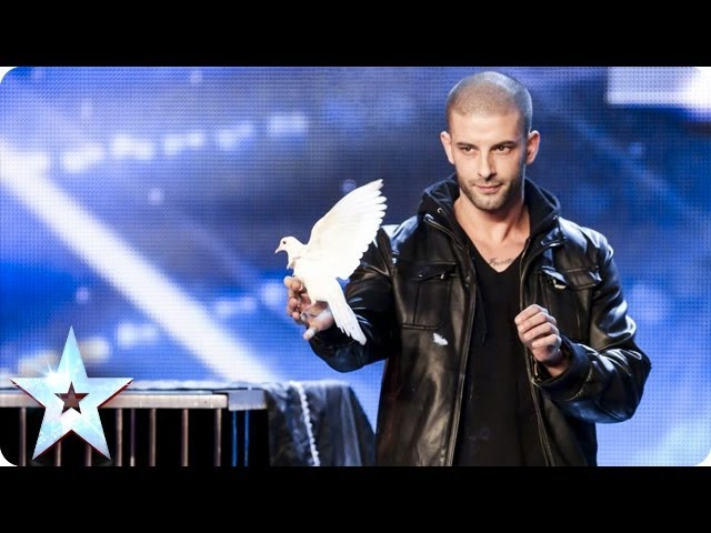 Darcy Oakes jaw-dropping dove illusions  Britains Got Talent 2014