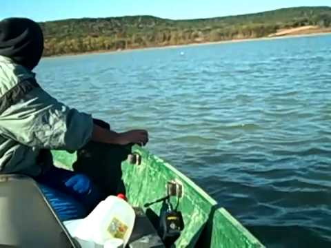 Jug Catfishing on Belton, Lake Fort Hood, Texas 11-18-2010