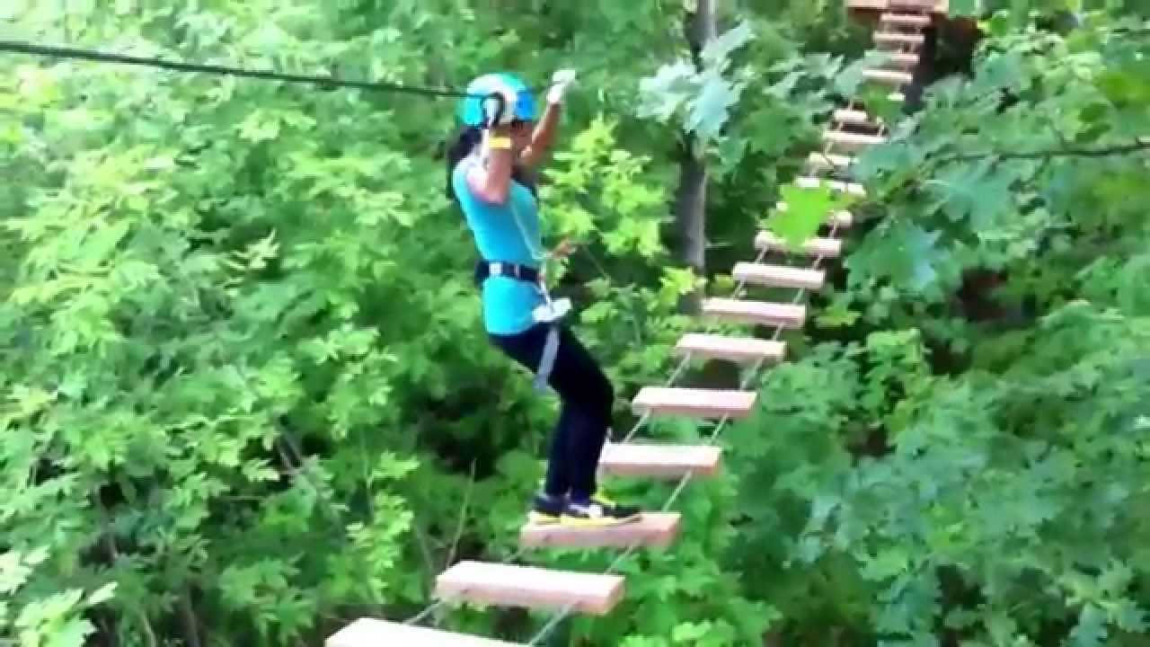 treetop trekking ziplining aerial course youtube. Black Bedroom Furniture Sets. Home Design Ideas