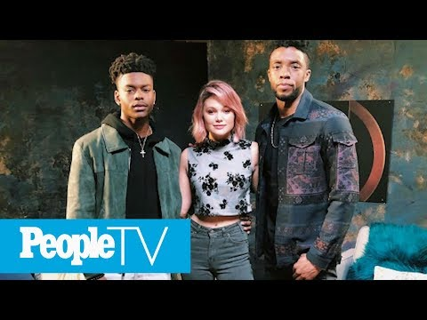Olivia Holt And Aubrey Joseph On Meeting Fellow Marvel Actor Chadwick Boseman | PeopleTV