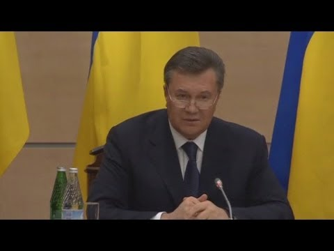 Ukraine crisis: Ousted leader Yanukovich reappears in Russia after week on the run