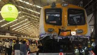 Mumbai Local Train Hits Dead End and Jumps Over the Platform
