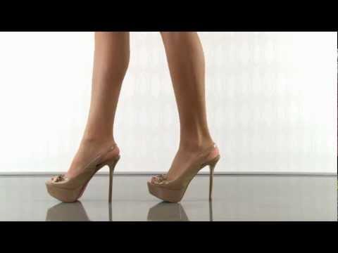 Paris Hilton Linda in Nude Patent Kid