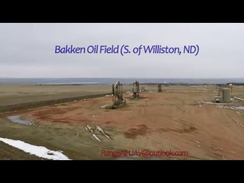 Bakken Oil Field Aerial Footage Williston North Dakota