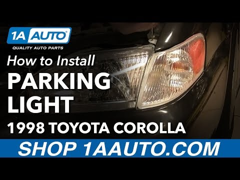 How to Install Replace Parking Light and Bulb Toyota Corolla 1998-00 1AAuto.com