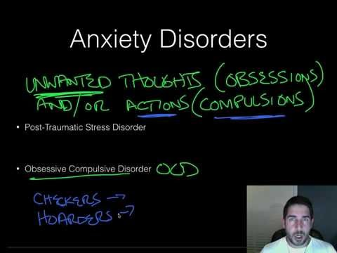 AP Psychology - Psychological Disorders - Part 2 - Anxiety Disorders