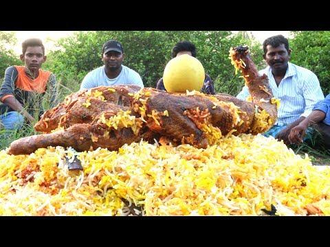 Delicious Duck Biryani   FULL DUCK BIRYANI   Traditional Recipe By Country Foods