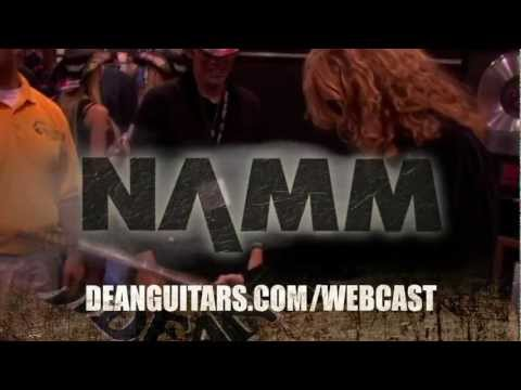 "Dean Guitars ""Live from NAMM"" 2013 Webcast Promo with Dave Mustaine and more!"