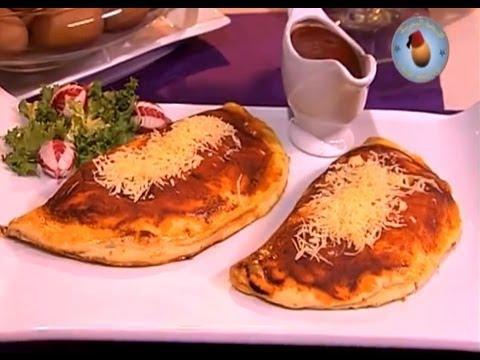 Choumicha et l'œuf Marocain:  Pizza Calzone aux œufs
