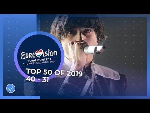 TOP 50: Most watched in 2019: 40 TO 31 - Eurovision Song Contest