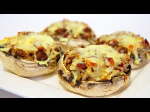 Beef And Salami Stuffed Mushrooms &#8211; Video Recipe