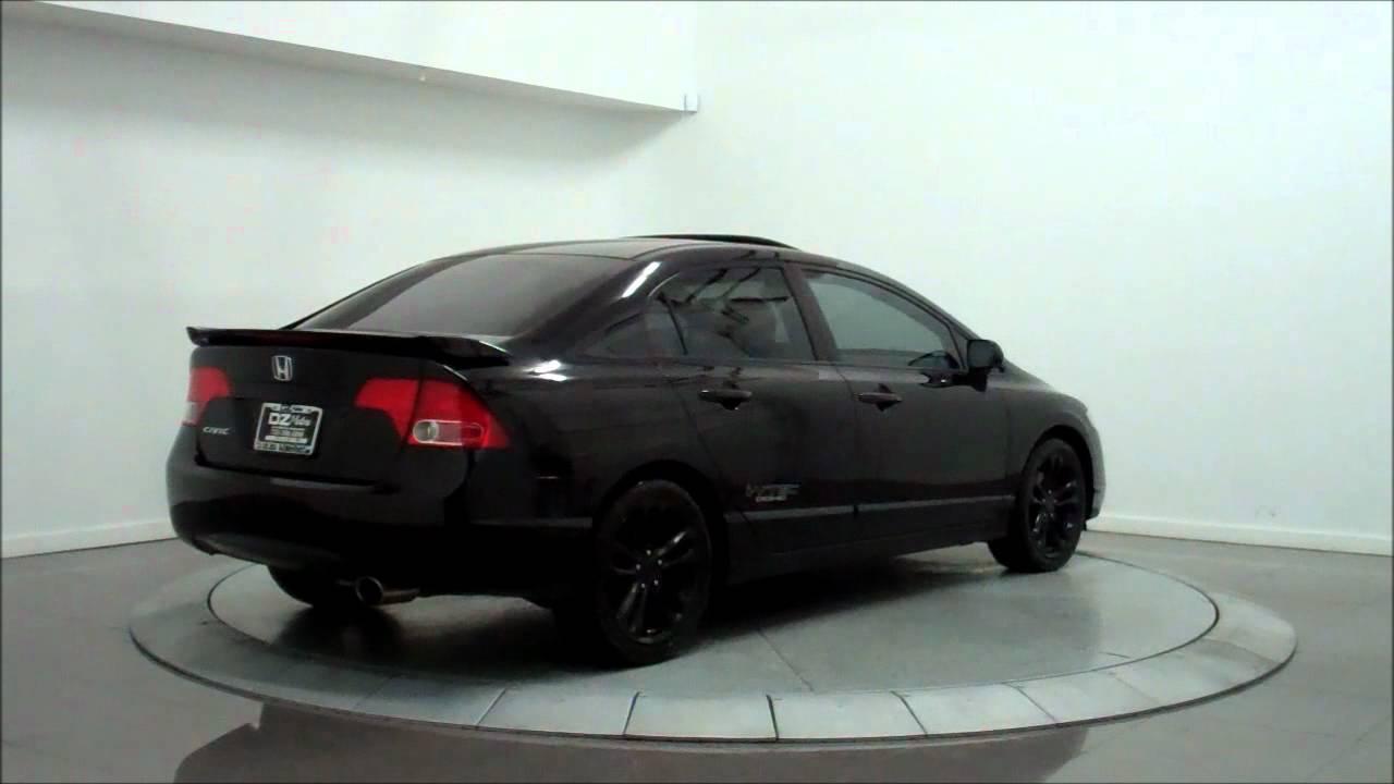 2008 Honda Civic Si Sedan Youtube