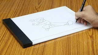 How To Make LED Drawing Copy Pad at Home
