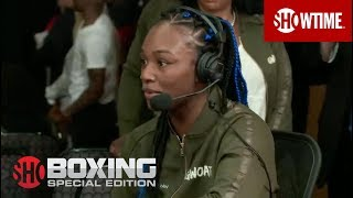 Claressa Shields Interview | Shields vs. Hammer Weigh-In | SHOWTIME Boxing: Special Edition