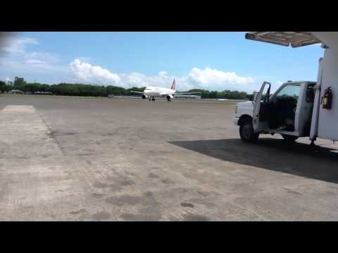 Arrival of PAL A320 at Puerto Princesa Airport