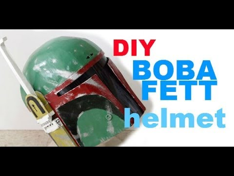 #1: Boba Fett Helmet DIY 1/4 - Cardboard With Template