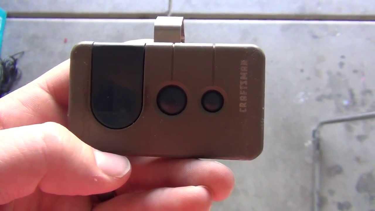 How to Program a Craftsman Garage Door Opener Remote - YouTube