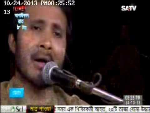 o chand shamle rakho by samarjit roy (live show on sa tv)