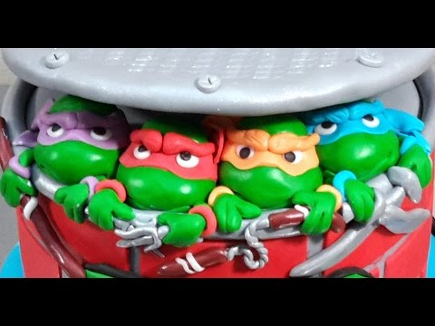 Ninja Turtles Cake Toppers TMNT  How To Make by Cakes StepbyStep