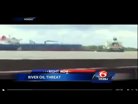Jefferson Parish officials monitor oil in Mississippi River