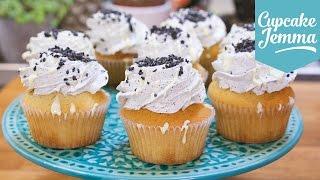 Black Sesame & White Chocolate Mudcake Cupcakes | Cupcake Jemma