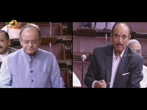 Arun Jaitley Vs Ghulam Nabi Azad In Rajya Sabha | War Of Words Over Vijay Mallya Case | Mango News