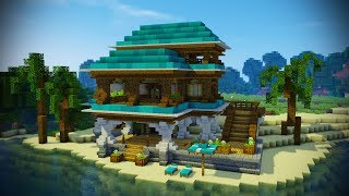 Minecraft Beach House Tutorial (Minecraft House)