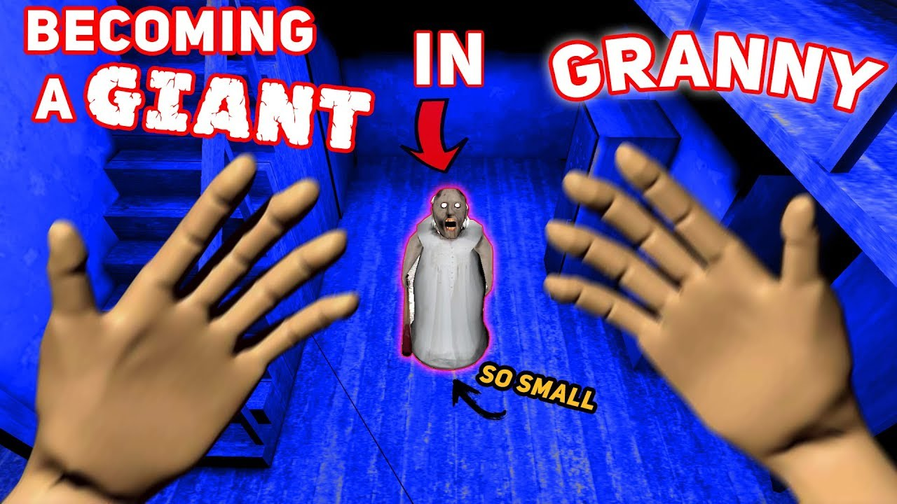Becoming A GIANT IN GRANNY'S HOUSE!!! (SO TALL) | Granny The Mobile Horror Game (Modded Version)
