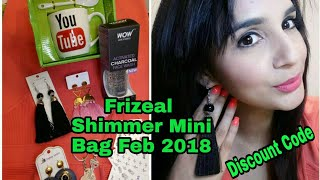 Frizeal Shimmer Mini Bag February 2018 | Discount Code | Unboxing & Review |