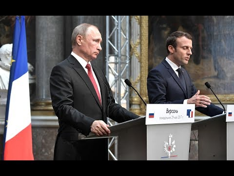 Vladimir Putin. Joint news conference with President of France Emmanuel Macron
