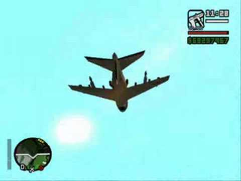 GTA San Andreas Flying a Hydra!