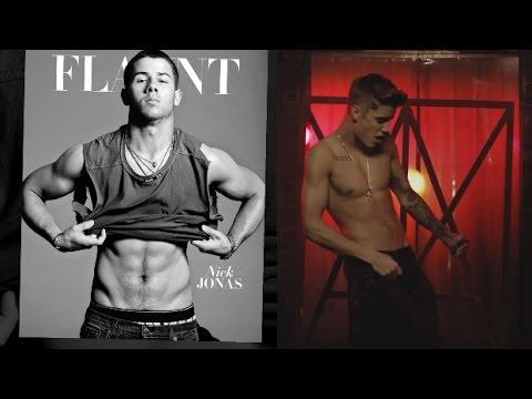 Justin Bieber Vs. Nick Jonas: Shirtless Showdown! video