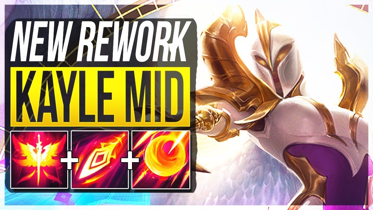 REWORKED KAYLE IS SO STUPID!! #1 OP LATE GAME CHAMP?? - Kayle Rework Mid Gameplay - LoL