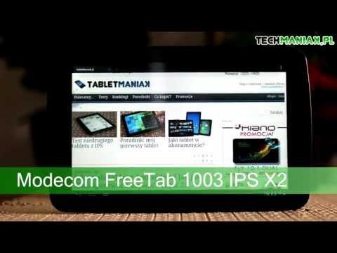 Wideo test i recenzja tabletu Modecom FreeTab 1003 IPS X2   techManiaK.pl
