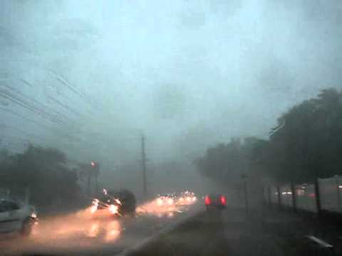 Driving in Tornado Lakeland FLorida March 2011 Sun N Fun DISASTER