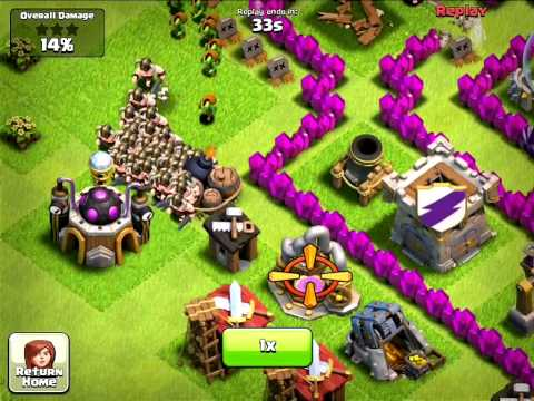 Clash of Clans - AWESOME GIANT BOMB KILL