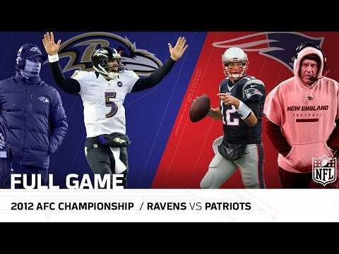 Ravens vs. Patriots: 2012 AFC Championship   Joe Flacco vs. Tom Brady   NFL Full Game